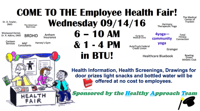 Poster for Berry Plastics Employee Health Fair